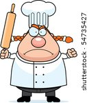 a cartoon chef with an angry... | Shutterstock . vector #54735427