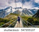 amazing nature of hooker valley ... | Shutterstock . vector #547355137