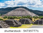 pyramid of the sun seen from... | Shutterstock . vector #547357771
