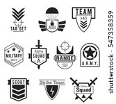 military army like badges logos