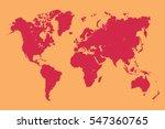 vector world map | Shutterstock .eps vector #547360765