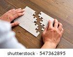close up of businessman hands... | Shutterstock . vector #547362895