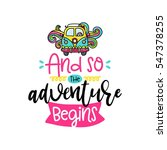 vector poster with phrase  bus... | Shutterstock .eps vector #547378255