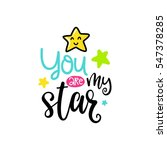 vector poster with phrase and... | Shutterstock .eps vector #547378285