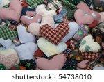 Pile Of Stuffed Fabric Hearts