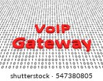 voip gateway in the form of...   Shutterstock . vector #547380805