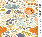 vector floral pattern with... | Shutterstock .eps vector #547381231