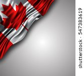 canadian waving silky flag... | Shutterstock .eps vector #547383619