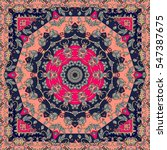 carpet. lovely tablecloth in... | Shutterstock .eps vector #547387675