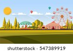 flat illustration of amusement... | Shutterstock .eps vector #547389919