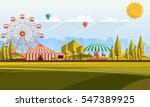 flat illustration of amusement... | Shutterstock .eps vector #547389925