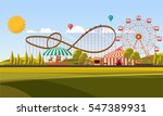 flat illustration of amusement... | Shutterstock .eps vector #547389931