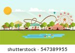 flat illustration of amusement... | Shutterstock .eps vector #547389955