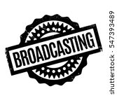 broadcasting rubber stamp.... | Shutterstock .eps vector #547393489