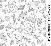 hand drawn science seamless... | Shutterstock .eps vector #547396321
