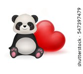 Toy Panda And Red Heart