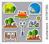 park and leisure icon set | Shutterstock .eps vector #547397581