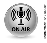 on air  mic icon  glassy white...