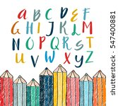 unique vector alphabet. modern...   Shutterstock .eps vector #547400881