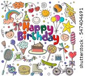 poster for the birthday... | Shutterstock .eps vector #547404691