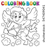 coloring book with cupid 5  ... | Shutterstock .eps vector #547409041