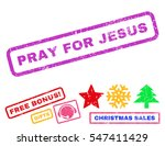pray for jesus text rubber seal ...