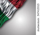 italian waving silky flag...   Shutterstock .eps vector #547415515