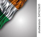 irish waving silky flag... | Shutterstock .eps vector #547415635
