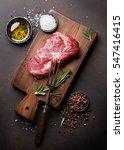 raw ribeye beef steak cooking... | Shutterstock . vector #547416415