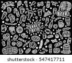 set of hand drawn beer doodles | Shutterstock .eps vector #547417711
