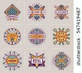 luxury royal insignias retro... | Shutterstock .eps vector #547419487
