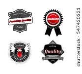 set of vintage quality labels. | Shutterstock .eps vector #547420321