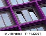 ajar window with violet  ...   Shutterstock . vector #547422097