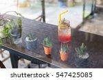 berry lemonade red soda in... | Shutterstock . vector #547425085