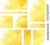 vector banners set with ... | Shutterstock .eps vector #547425559