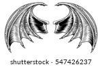 a demon dragon or vampire bat... | Shutterstock .eps vector #547426237
