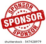 sponsor. stamp. red round... | Shutterstock .eps vector #547428979