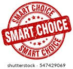 smart choice. stamp. red round... | Shutterstock .eps vector #547429069