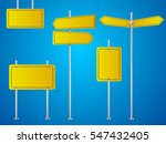 set of yellow road signs... | Shutterstock .eps vector #547432405