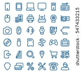 thin linear icon set of smart... | Shutterstock .eps vector #547433215