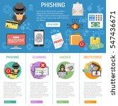 cyber crime phishing... | Shutterstock .eps vector #547436671