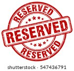 reserved. stamp. red round... | Shutterstock .eps vector #547436791