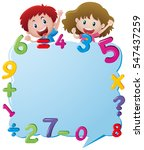 border template with kids and... | Shutterstock .eps vector #547437259