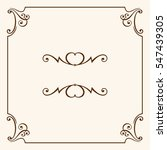 decorative frame | Shutterstock .eps vector #547439305