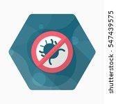 debug icon   vector flat long... | Shutterstock .eps vector #547439575