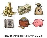 cartoon finance  money ... | Shutterstock .eps vector #547443325