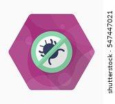 debug icon   vector flat long... | Shutterstock .eps vector #547447021