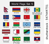 world flags set 5 . simple... | Shutterstock .eps vector #547449751