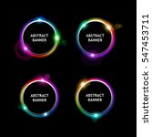 set of colored round banners on ... | Shutterstock .eps vector #547453711