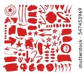 set of hand drawn red paint... | Shutterstock .eps vector #547453969